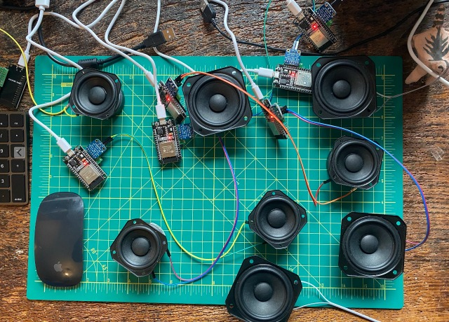 A Distributed Music Synthesizer Using WiFi