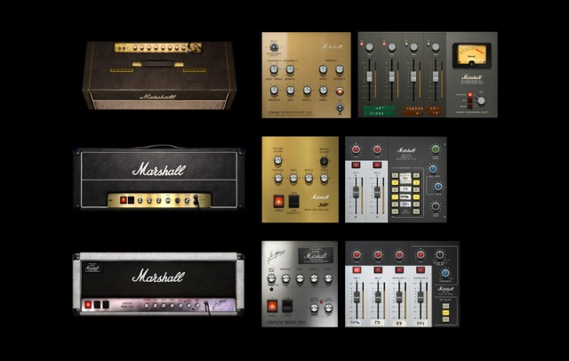 Three Marshall Guitar Amps Emulated