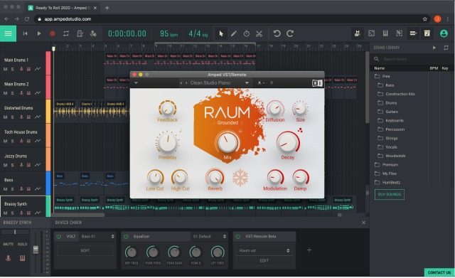 Amped Studio Connects VSTs To Browser Based DAW