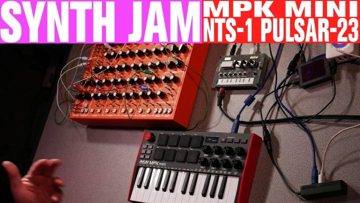 Friday Fun: Akai MPK mini, Korg NTS-1, Soma Pulsar-23