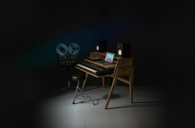 Space-Saving Music Production Desk