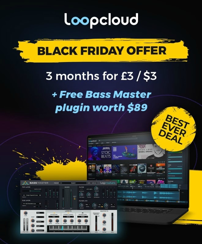Loopcloud Black Friday Deal - 3 Months For $3