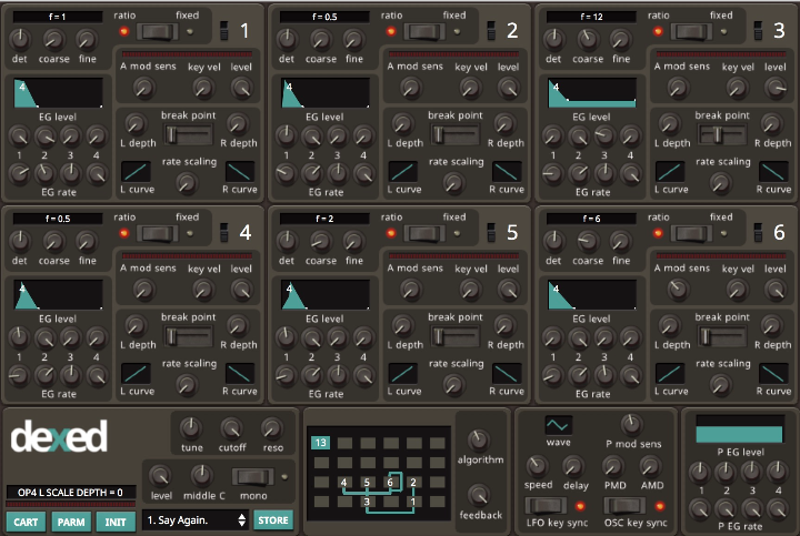 Dexed DX7 Free Synth Plugin