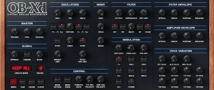 OB-Xd Free synth plug-in