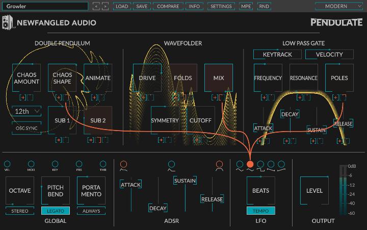 Newfandled Audio Pendulate Free Synth Plug-in