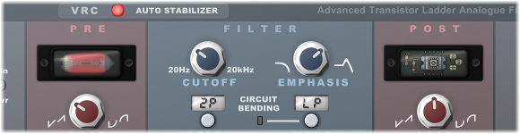 Transistor Ladder Filter Simulated