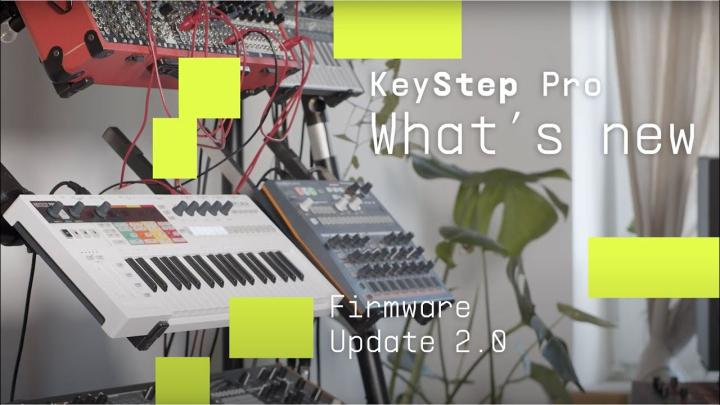 Keystep Pro Firmware v2.0 Adds Plenty Of Features