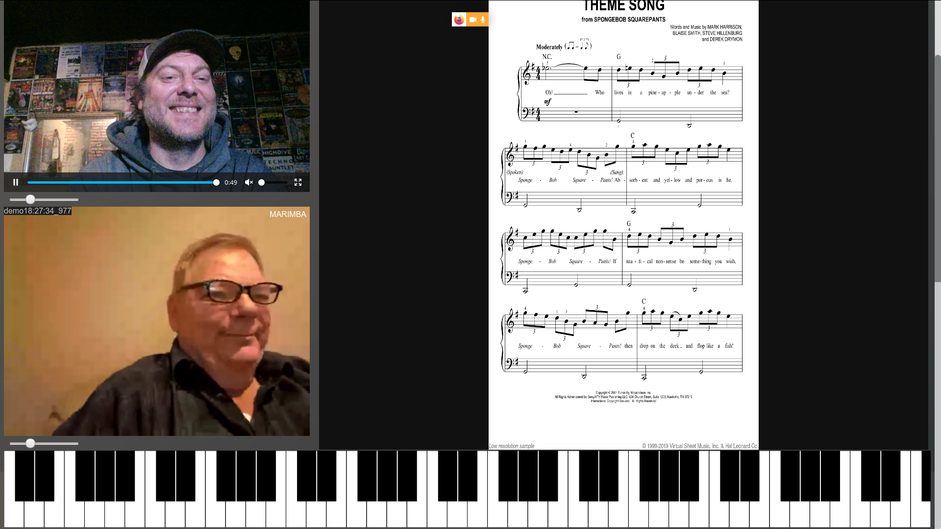 Web Chat With MIDI Keyboard For Teaching And Collaborations