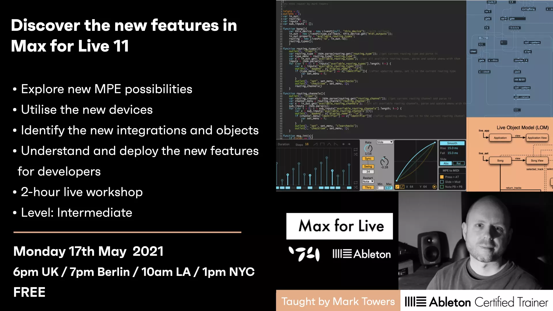 Free Workshop - New Features In Max For Live 11