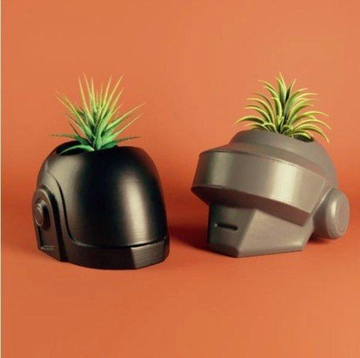 Daft Punk Plant Pots
