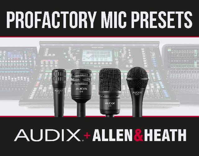 Audix Mic Presets For A&H Digital Mixers