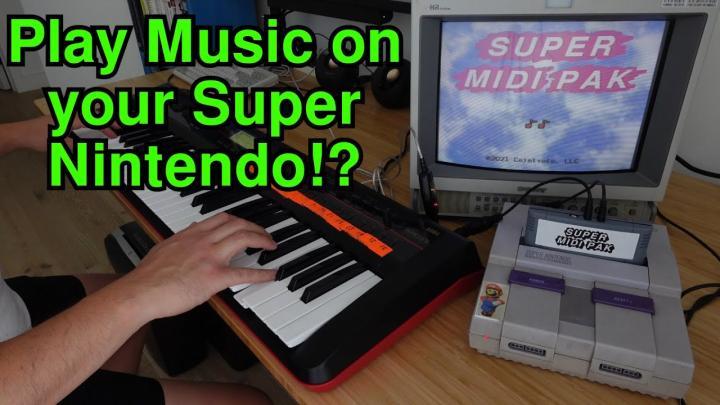 MIDI Cartridge For Super NES