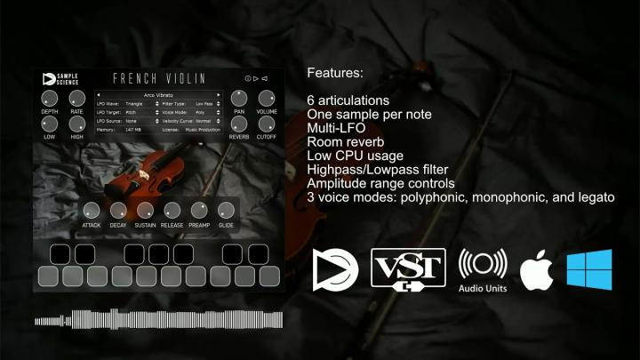 Free Sampled Violin Instrument