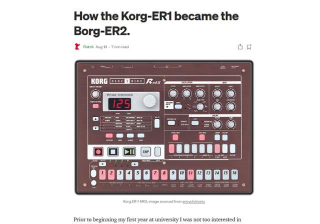 How The Korg ER-1 Became The Borg ER-2
