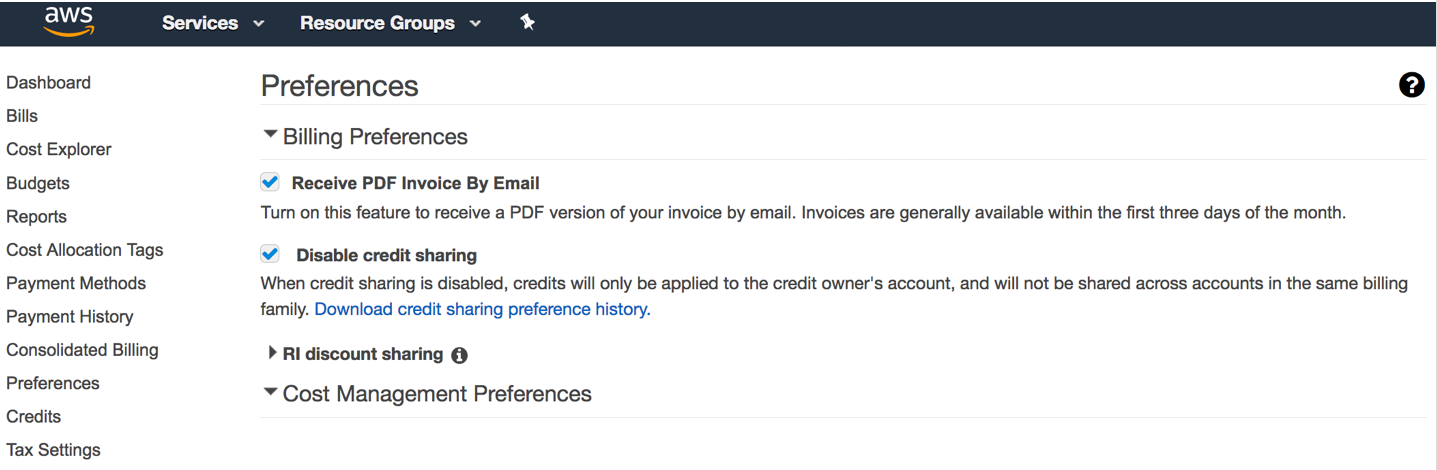Controlling How Your AWS Credits and RI Discounts are Shared Across