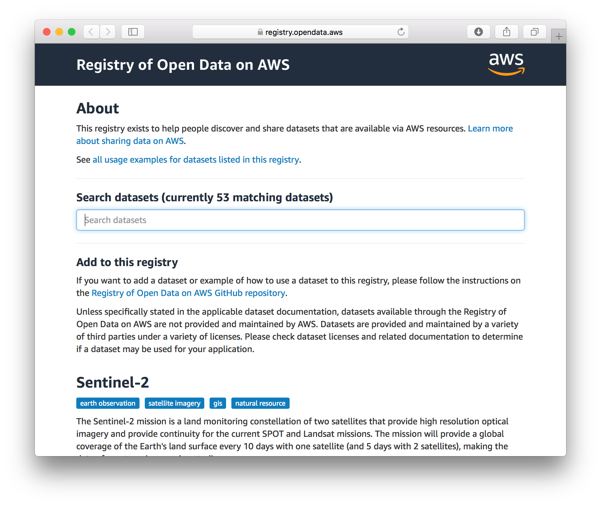 Technology Management Image: Announcing Registry Of Open Data On AWS