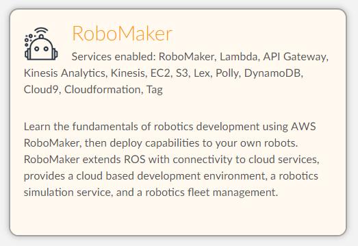Introducing a virtual robotics classroom on AWS Educate