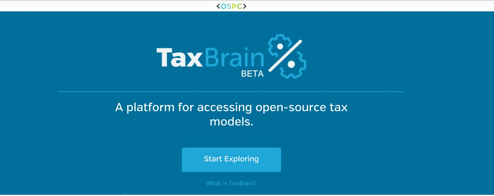taxbrain a platform for accessing open source tax models aws