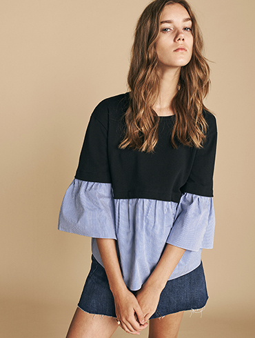 Layered Poplin Top