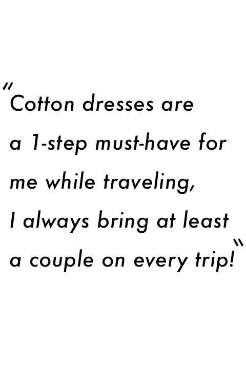 Combed Cotton Midi Dress