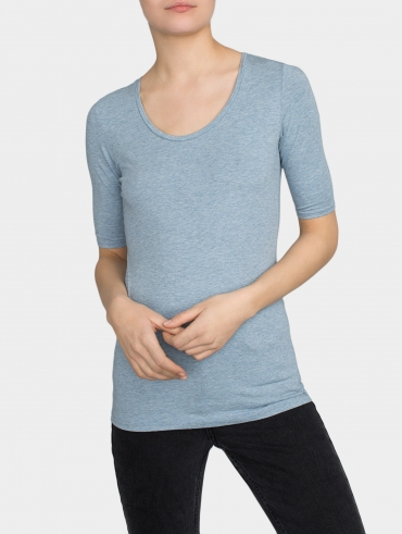 Cotton Modal Scoopneck Tee