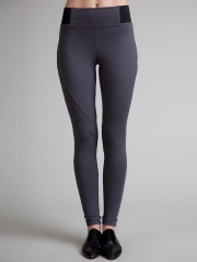 Cross Knit Stretch Seamed Legging
