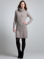 Cashmere Rib Collar Dress
