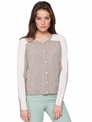 Cashmere Color Block Cardigan