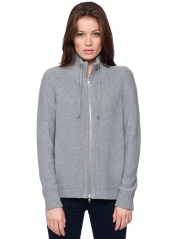 Cotton Funnel Neck Jacket
