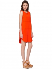 Cross Knit Stretch Slash Neck Dress
