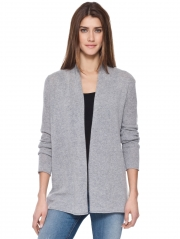 Cashmere T Back Open Cardigan