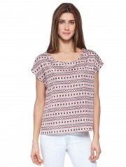 Square Print Easy Top