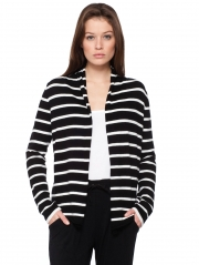 Stripe Hi Lo Open Cardigan