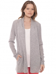 Cashmere Pocket Open Cardigan
