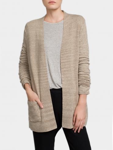 Textured Cotton Cardigan