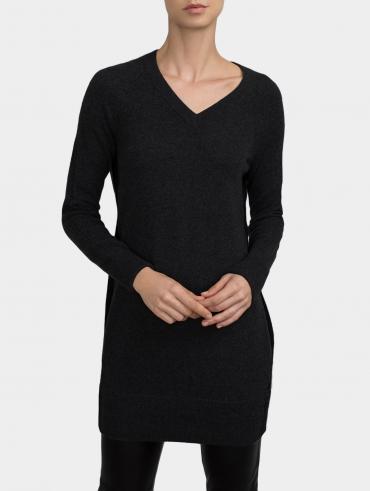 Cashmere V Neck Dress