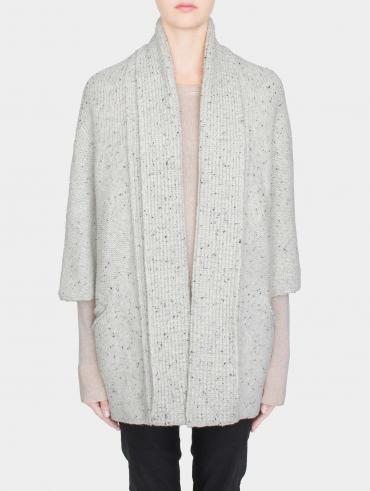 Italian Tweed Shawl Collar Coatigan