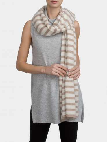 Essential Cashmere Striped Travel Wrap
