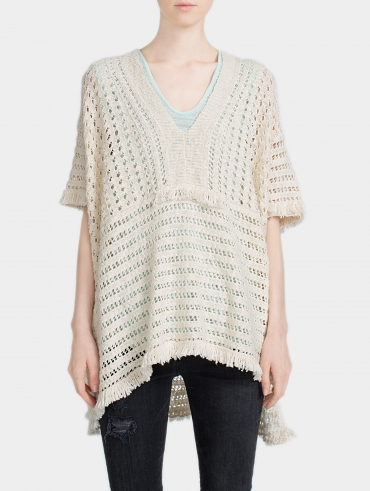 Fringed Stitch Poncho