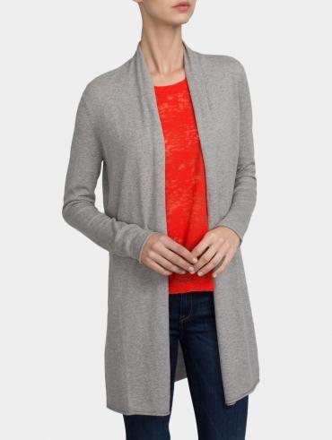 Essential Cotton Open Cardigan