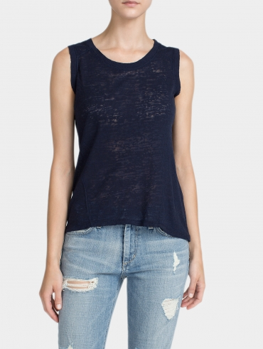 Cotton Burnout Sleeveless Tank