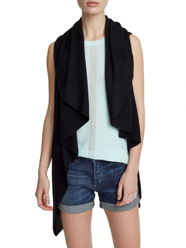 Spring Weight Cashmere Two Way Vest