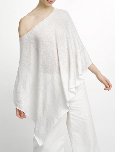 Linen Wave Poncho