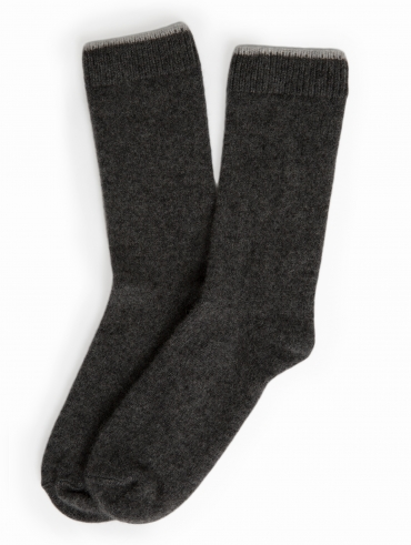 Womens Cashmere Tipped Socks