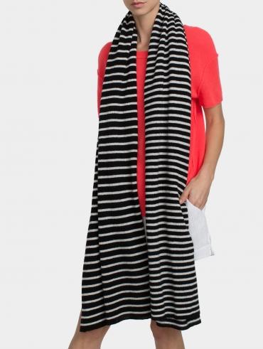 Essential Cashmere Striped Travel Wrap
