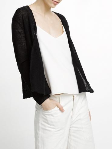 Linen Crop Cardigan