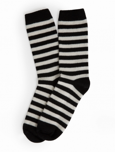 Womens Cashmere Striped Socks
