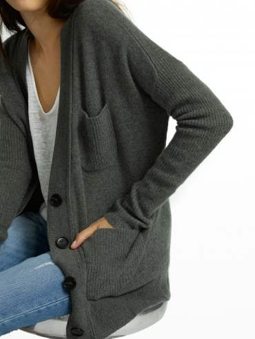 Pre-order Cashmere Patch Pocket V Cardigan