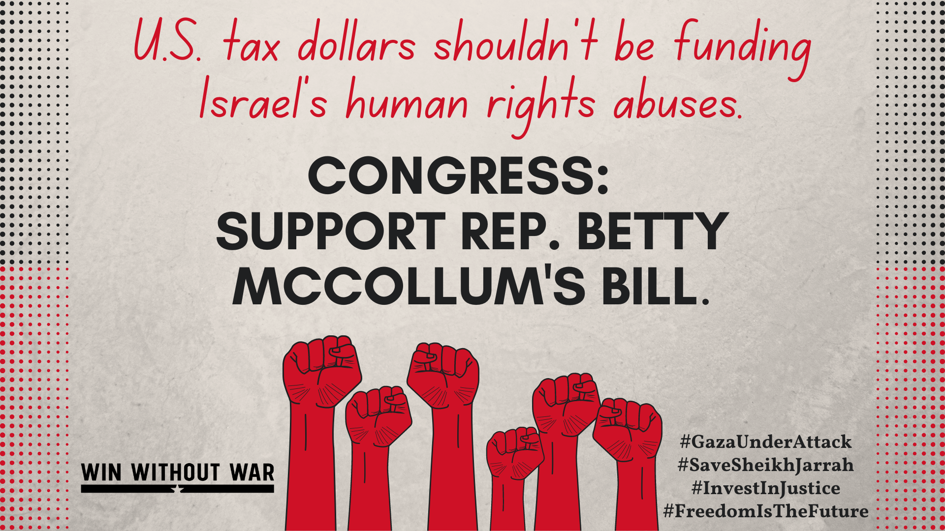 Congress: Bar unconditional military aid to Israel that enables human rights abuses!