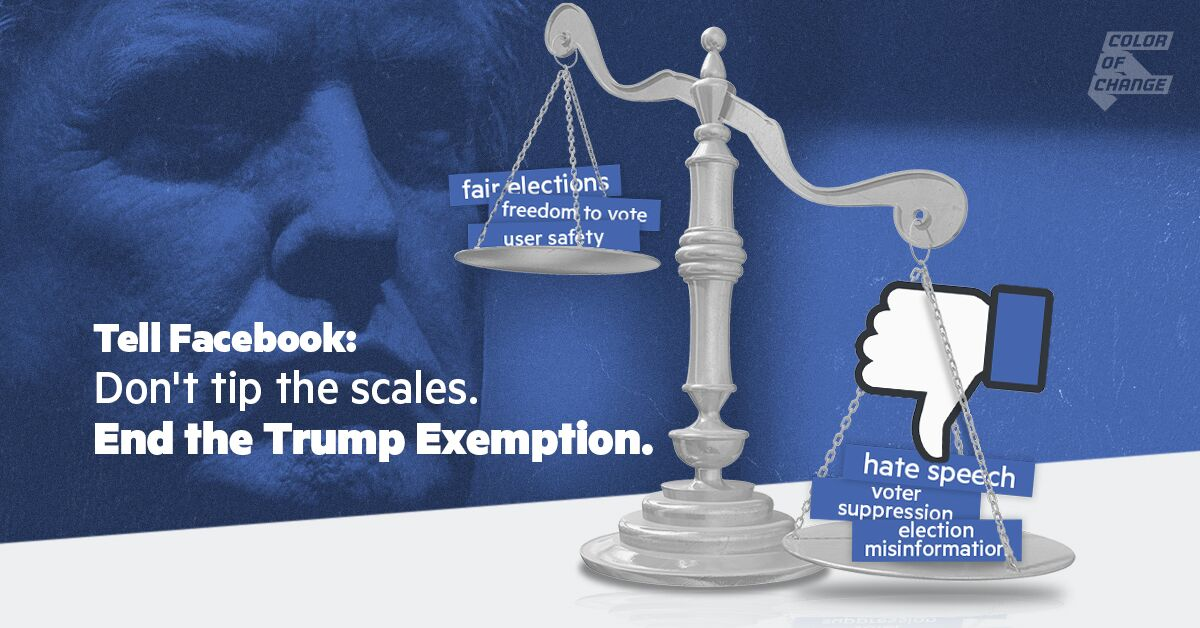 Tell Facebook: End the Trump Exemption